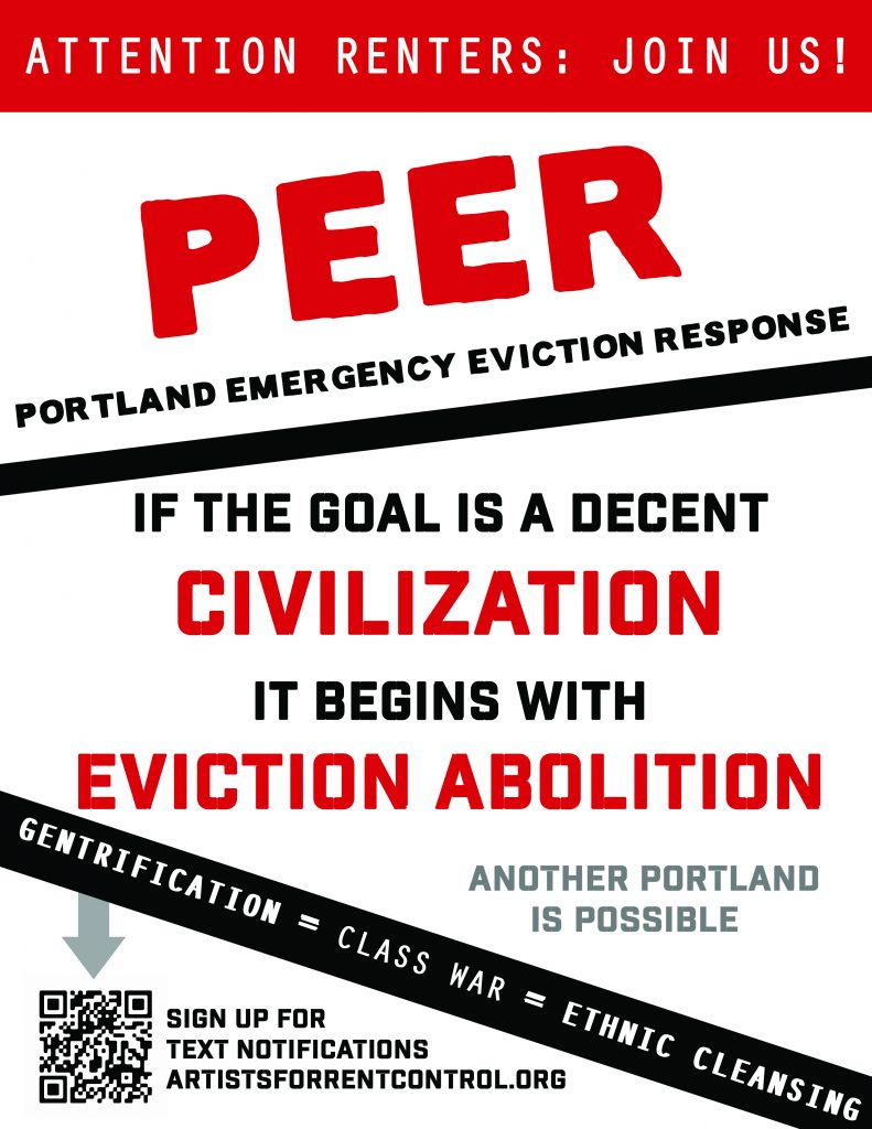 Portland Emergency Eviction Response flier